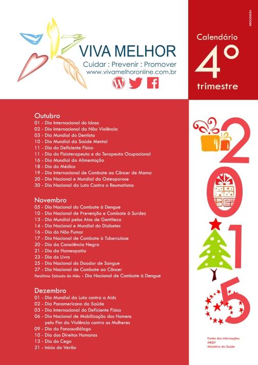 Calendário 4º trimestre 2015