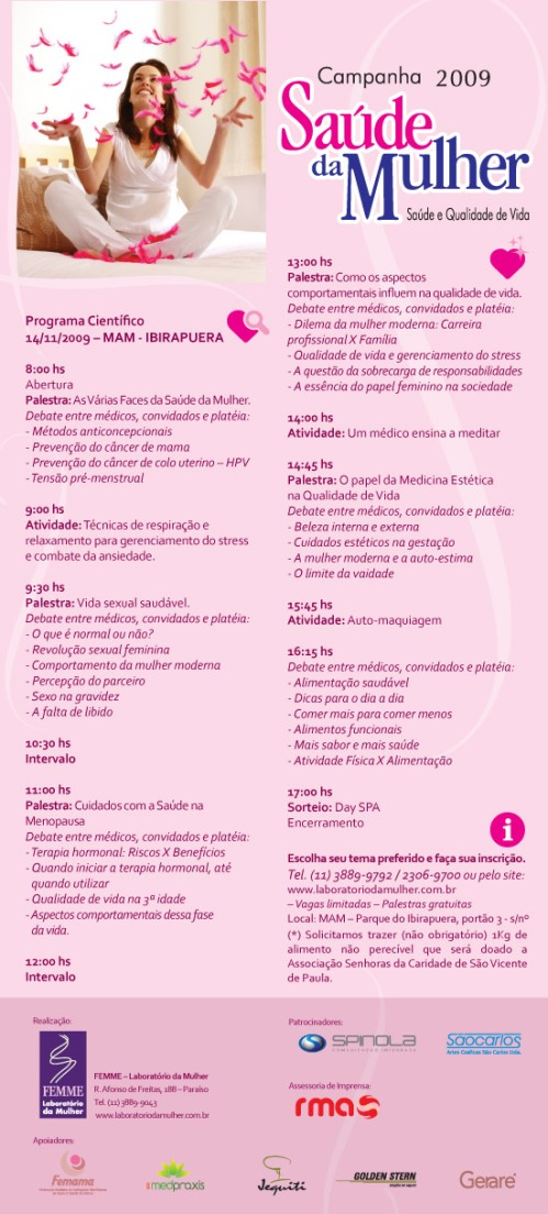 Programacao Campanha Saúde da Mulher