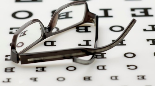 Frame on eye chart
