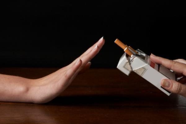 Exorcizar a água para deixar de fumar