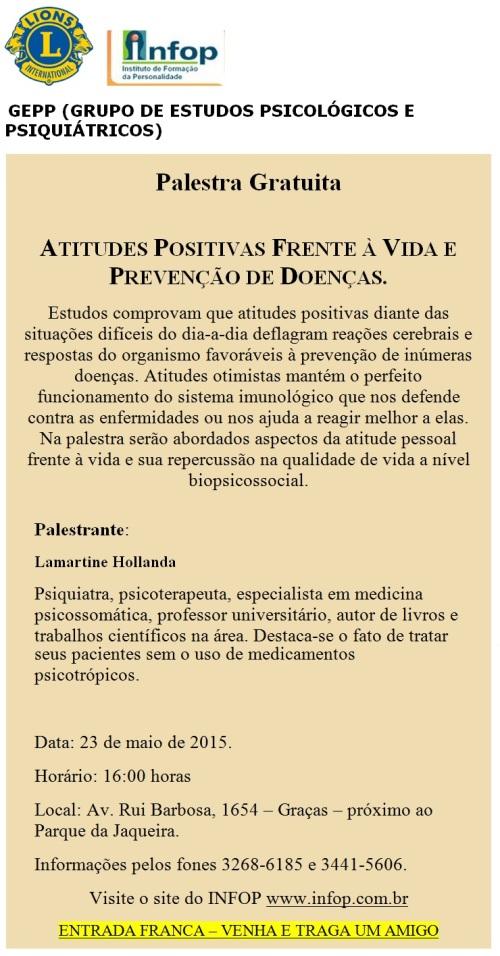 Infop Palestra Atitudes Positivas