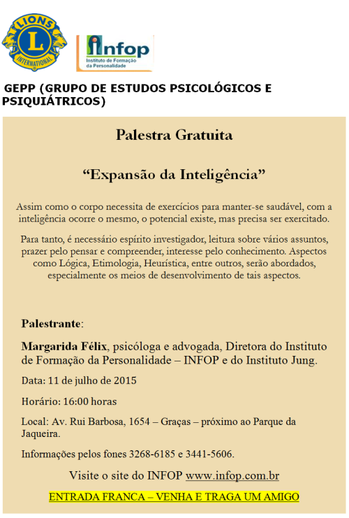 Palestra Infop Margarida 2